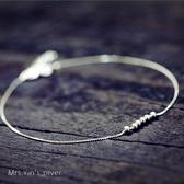日韓國s925純銀腳鍊女韓版簡約個性腳環學生閨蜜足鍊森系清新腳繩