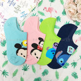 【KP】TSUMTSUM系列襪子 迪士尼 止滑矽膠條 隱形襪 帆船襪 成人卡通襪 正版授權 DTT0522009