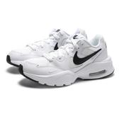 NIKE 休閒鞋 AIR MAX FUSION 全白 黑LOGO 網布 氣墊 復古 增高鞋 女 (布魯克林) CJ1671-100