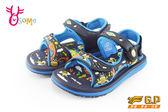GP涼鞋 中小童 磁扣兩穿防水涼鞋 青蛙款 I6707#藍色◆OSOME奧森童鞋