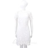 Vivienne Tam 白色蝴蝶織花蕾絲短袖洋裝 1730252-20