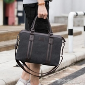 潮流帆布手提包男旅行休閑單肩包商務公文包出差大容量超大旅行袋 新北購物城