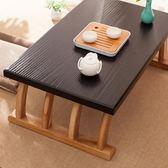 茶几 榻榻米桌子飄窗小茶幾日式茶桌禪意家用簡約實木炕桌窗臺桌迷你桌【快速出貨】