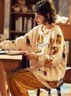 家居服珊瑚絨睡衣女冬季加厚加絨家居服女法蘭絨可外穿保暖套裝春秋冬款 嬡孕哺