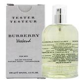 BURBERRY Weekend 週末男性淡香水100ml Tester環保包裝 36147《Belle倍莉小舖》