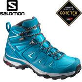 【SALOMON 索羅門 女款 X ULTRA 3 GORE-TEX 中筒登山鞋《深藍/淡藍》】398686/中筒/登山鞋/健行★滿額送