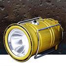 ♚MY COLOR♚太陽能充電露營燈 LED 強光燈 探照燈 手電筒 手提燈 多功能 防水【P539】