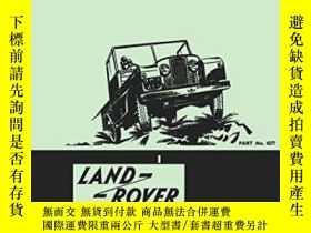 二手書博民逛書店Land罕見Rover Series 1 Instruction Manual 1948-58-路虎系列1使用手冊
