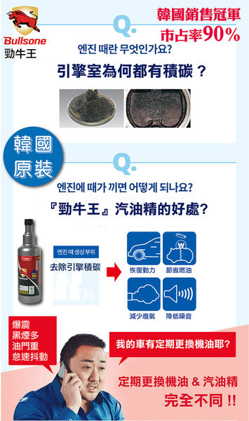 【Bullsone】汽油車燃油添加劑 Pro(全效牛6合1)