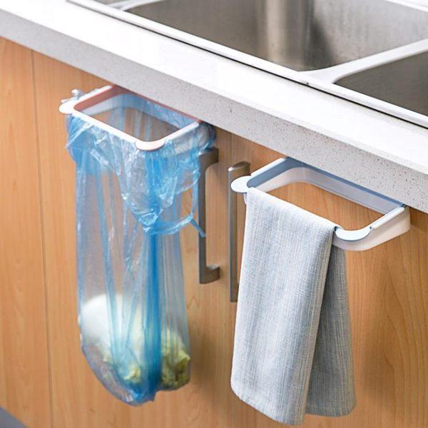 [超豐國際]廚房可掛式櫥柜門垃圾架垃圾袋收納架塑料袋架子垃圾桶支架