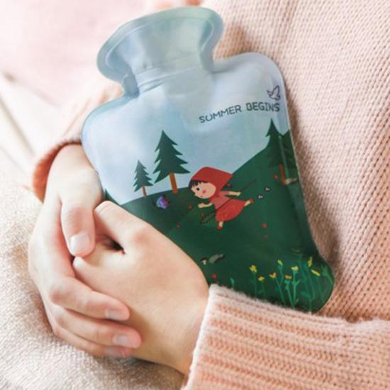 ✭米菈生活館✭【P619】小紅帽卡通印花熱水袋 注水式  防漏 沖水 暖手袋 便攜 PVC 暖暖包