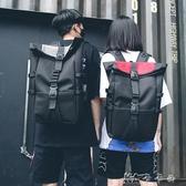 雙肩包男大容量運動高中生書包時尚潮流街拍個性帆布旅行背包 卡卡西
