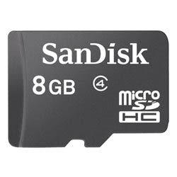 [ 中將3C ]  SanDisk 8GB microSDHC Class4記憶卡 SDSDQM-008G-B35