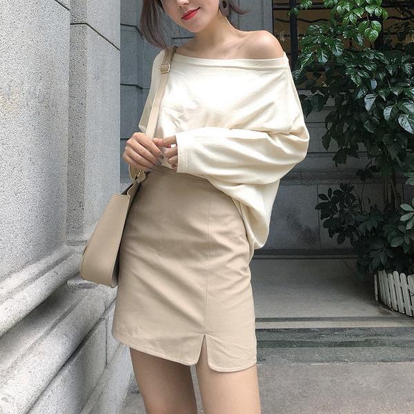 Qmigirl  性感包身高腰修身開衩半身裙【WT1729】