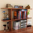 現代桌上書架簡易桌子書櫃學生書桌小置物架...