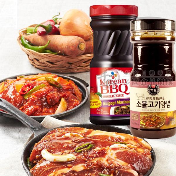 韓國CJ韓式頂級水梨蘋果燒醃烤醬 烤肉醬 燒肉醬 [KO07247120]千御國際