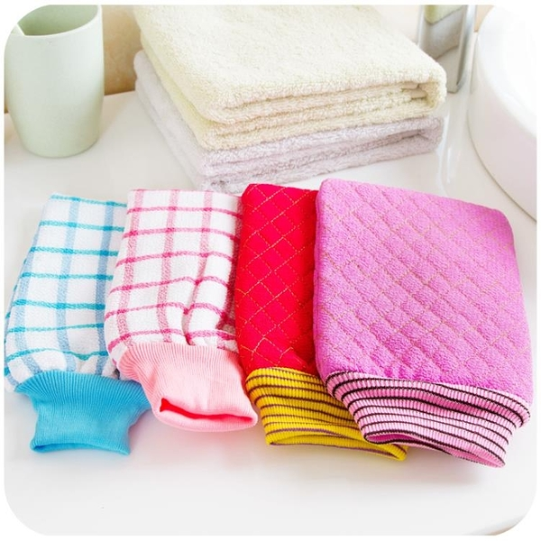 [超豐國際]沐浴用品擦背搓泥手套搓澡巾 搓背去角質澡巾搓背巾洗澡