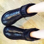 中筒靴 防水牛皮雪地靴女冬季短筒皮毛一體中筒女鞋短靴防滑保暖 CP848【棉花糖伊人】