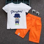 童裝男童夏裝套裝2018新款夏季中大童潮衣男孩短袖兒童帥氣兩件套 易貨居