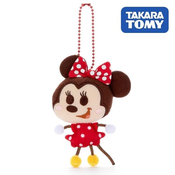 日本限定 迪士尼 米妮  TOY COMPANY 擦擦珠鍊吊飾 / 珠鍊玩偶