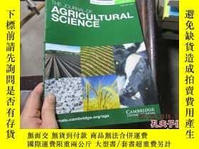 二手書博民逛書店THE罕見JOURNAL OF AGRICULTURAL SCI