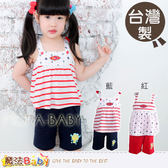 台灣製針織套裝(藍.紅) 男女童裝 魔法Baby