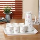 歐式創意耐高溫禮品家用陶瓷冷水壺杯具水杯...