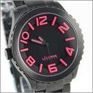 【萬年鐘錶】 LICORNE力抗錶全黑桃紅字躍系列 LI015MBBA-P