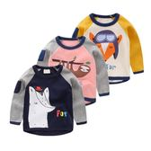 男童長袖T恤童裝寶寶兒童韓版打底衫上衣小童潮 伊衫風尚