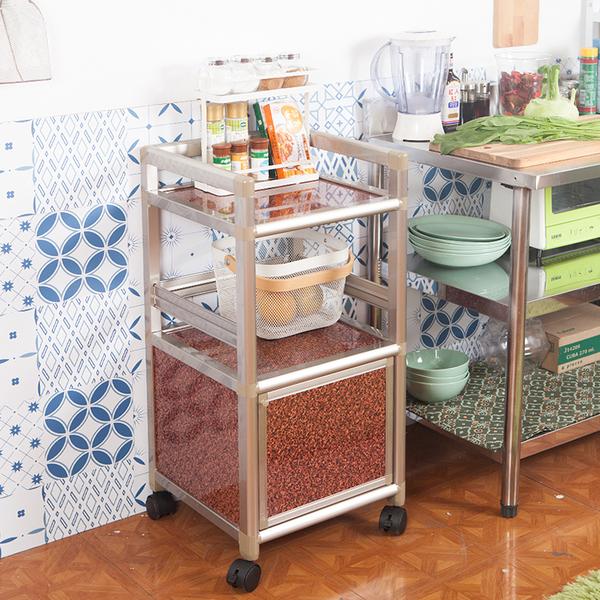 輕量鋁合金收納櫃[單門1.2尺]【JL精品工坊】鋁櫃 廚房櫃 收納櫃 電器架 活動櫃 鋁合金櫃