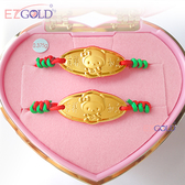 EZGOLD ♥kiki帽天使♥ 彌月金飾音樂禮盒 (0.20錢)