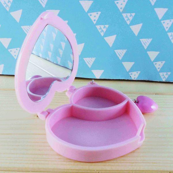 【震撼精品百貨】Hello Kitty 凱蒂貓~KITTY飾品盒附鏡-粉蕾絲
