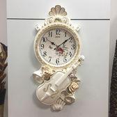聖誕預熱   簡歐式掛鐘簡約時尚靜音藝術客廳鐘表臥室掛表復古美式現代石英鐘  居享優品