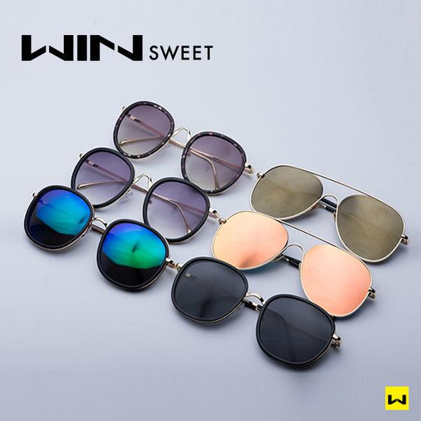 造型墨鏡 簡約小臉圓形鏡框(2色) WINsweet 現貨