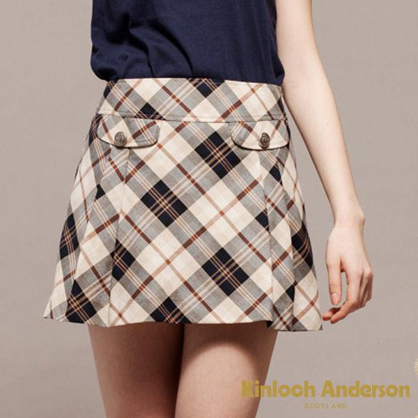 Kinloch Anderson金安德森   剪接飾袋格紋短裙