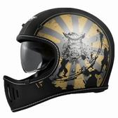 【東門城】M2R MX2 SV#8 (消光黑金) 全罩式安全帽 山車帽 內墨鏡片