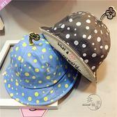 造型帽兒童韓版寶寶盆帽兒童漁夫帽遮陽帽太陽花圓頂盆帽寶寶帽百搭造型帽子 嬡孕哺