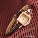 前任3林佳同款方形女錶聚利時韓版學生皮帶復古小方糖手錶女  一米陽光