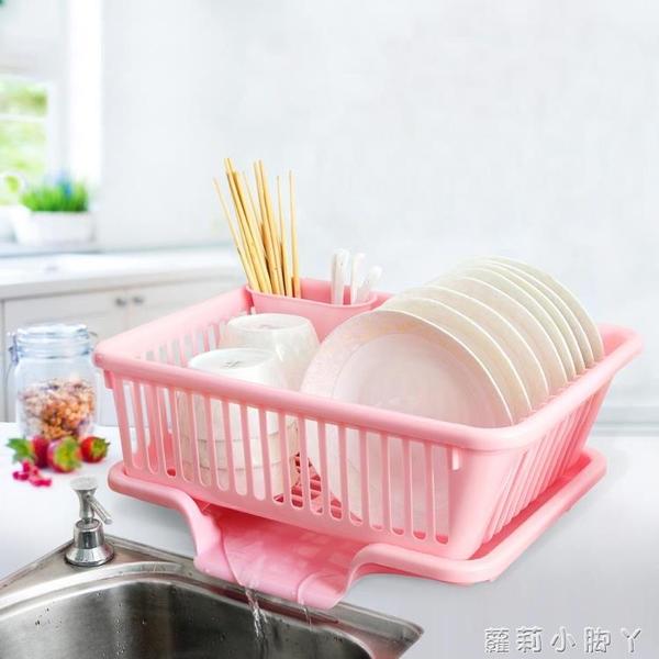 廚房放碗架 塑料單層瀝水滴水碗碟架碗筷收納置物架收納盒收納籃 NMS蘿莉新品