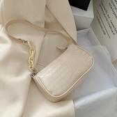奶茶色亞克力腋下包法棍包女包包2020新款潮網紅復古手提側背包 貝芙莉