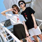 情侶短袖   短袖t恤 韓版百搭潮流時尚氣質半袖衣服女   ciyo黛雅