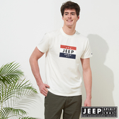 【JEEP】品牌LOGO造型短袖TEE-白