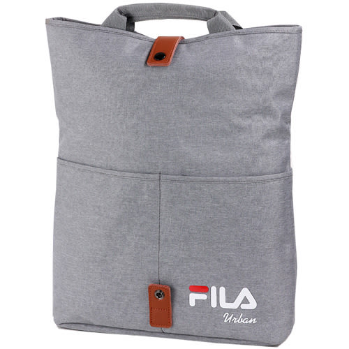 FILA 兩段式加大空間兩用包-銀白【愛買】