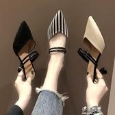 網紅涼拖鞋女外穿尖頭女鞋穆勒鞋包頭兩穿高跟鞋ins潮鞋 伊莎公主