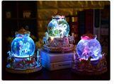 旋轉木馬音樂盒水晶球八音盒生日禮物女生女孩天空之城   傑克型男館