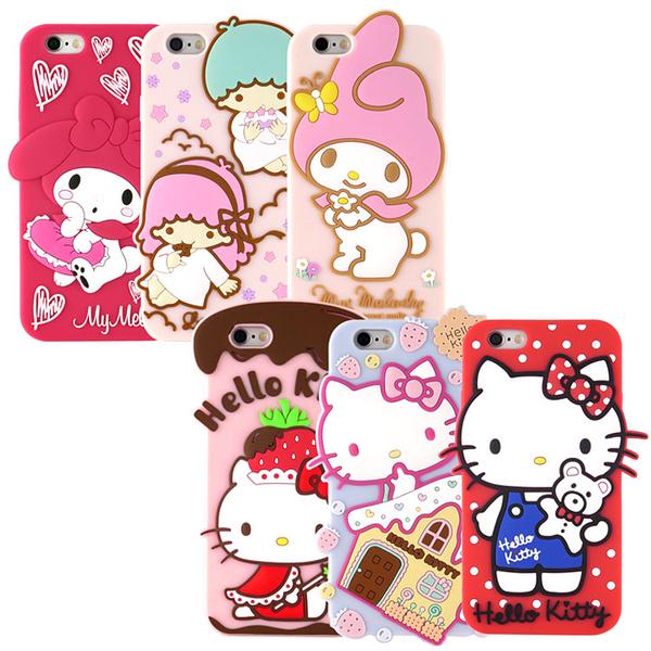 【Sanrio】iPhone 6 Plus/6s Plus 可愛2D立體保護套