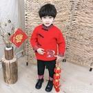 兒童唐裝男童漢服女童旗袍嬰兒中國風新年寶寶周歲禮服拜年喜慶衣 OO2737【viki菈菈】