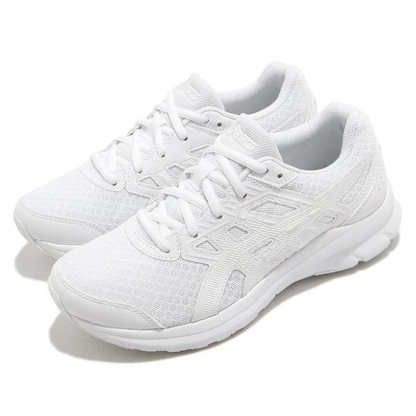 Asics 慢跑鞋 Jolt 3 寬楦 女鞋 全白 韓國 穿搭鞋 基本款 亞瑟士 【ACS】 1012A909101
