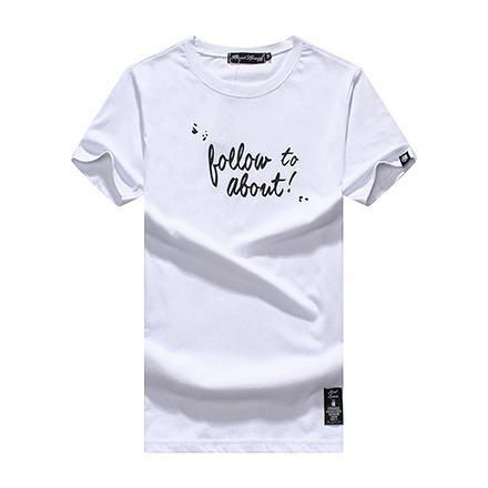 [現貨] 情侶款 草寫follow to about印花圓領棉質短T短袖上衣潮T恤 MIT台灣製【QZZZ7302】