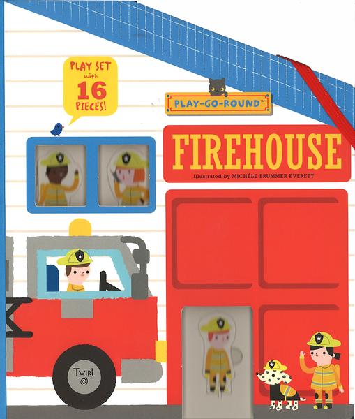 【消防隊員救難遊戲書】FIREHOUSE /插牌遊戲書
